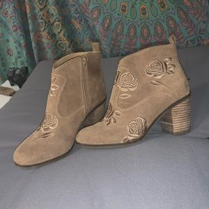 Lucky Brand Floral Booties